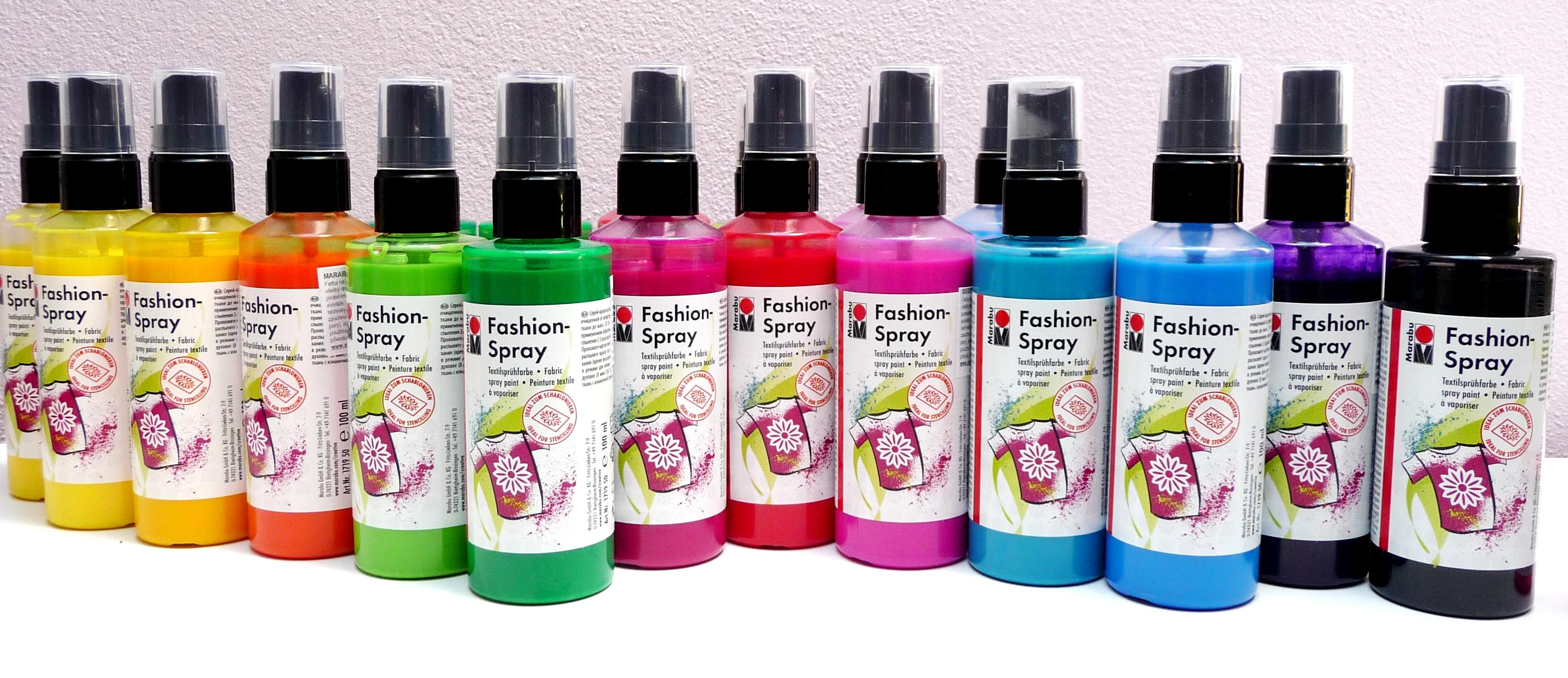 5a89624d4 FARBY NA TEXTIL | Marabu fashion SPRAY | farby na textil, farby na ...
