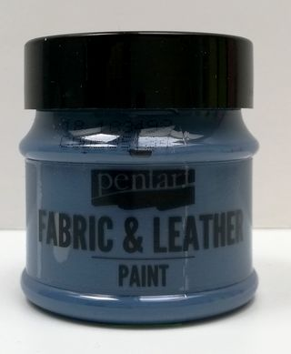Pentart fabric/leather paint modrá denim
