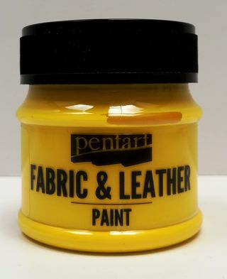 Pentart fabric/leather paint žltá