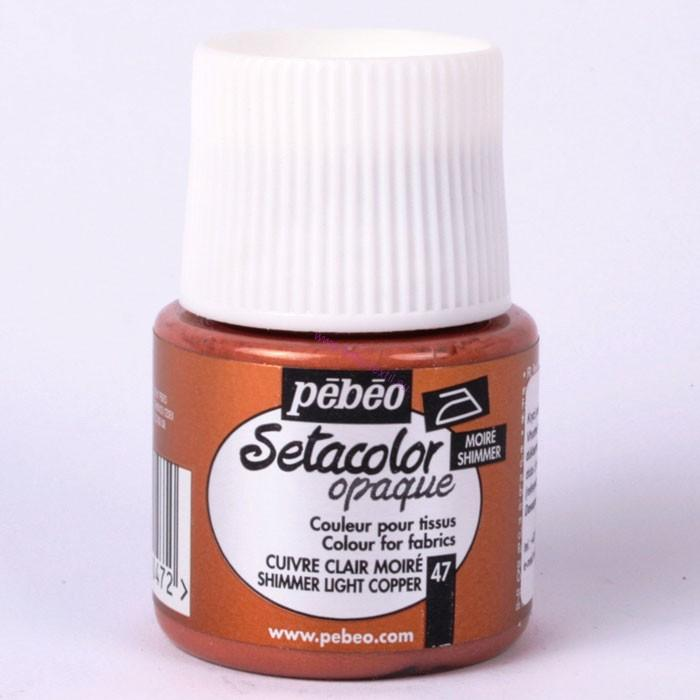 Pebeo Setacolor opaque 47 shimmer light cooper