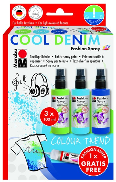 Marabu Fashion Spray - COOL DENIM  3x100ml