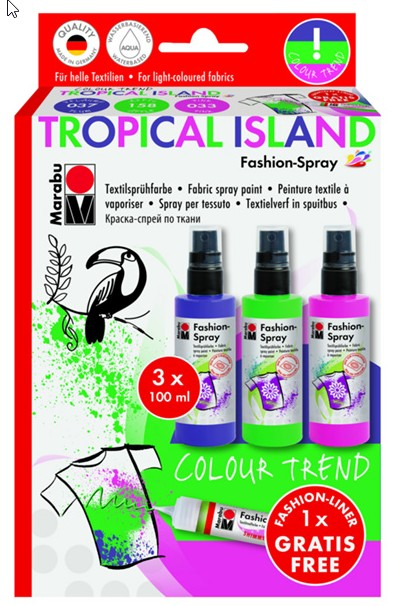 Marabu Fashion Spray - TROPICAL ISLAND  3x100ml