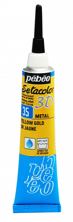 Gutta Pebeo setacolor 3D 35 metal yellow gold