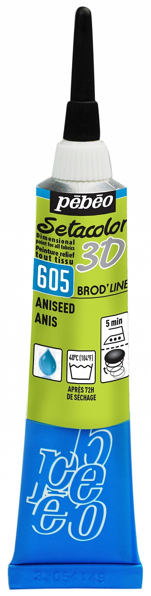 Gutta Pebeo setacolor 3D BROD'LINE 605 - aniseed