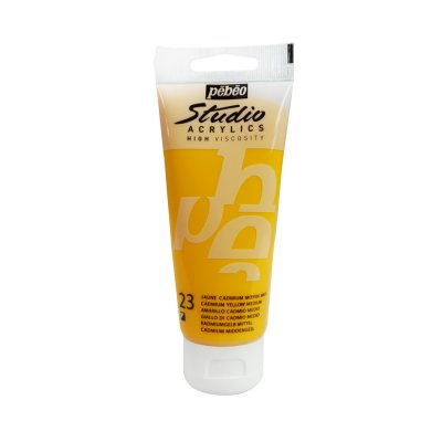 Pébéo Studio acrylics 100 ml - 023 medium  cadmium yellow