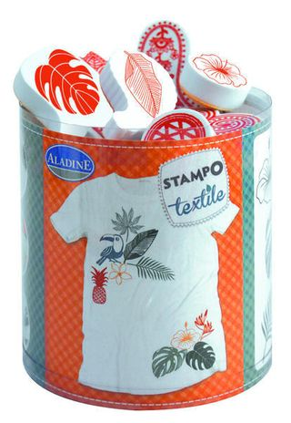 STAMPO TEXTILE -  TROPICAL -  10 ks