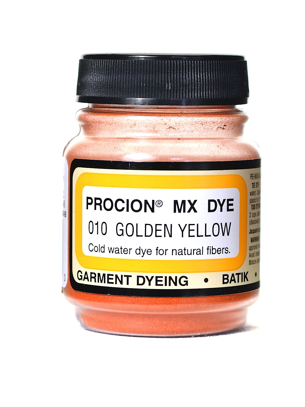 Jacquard Procion MX dye 2010 bright golden yellow