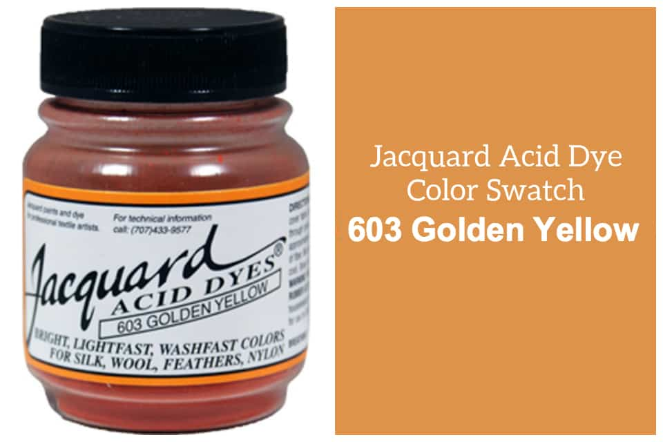 Jacquard Acid  dye 603 golden yellow