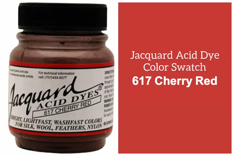 Jacquard Acid  dye 617 Cherry red
