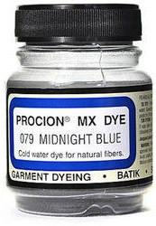 Jacquard Procion MX dye 2079 midnight blue