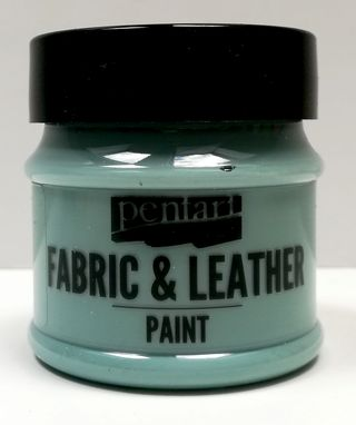 Pentart fabric/leather paint country modrá