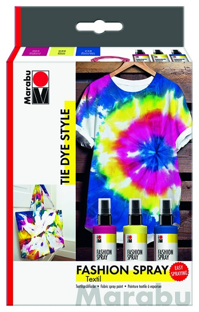 Marabu Fashion Spray - TIE DYE STYLE  3x100ml