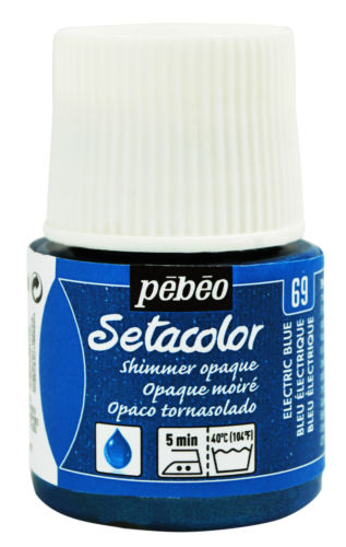 Pebeo Setacolor opaque 69 shimmer electric blue
