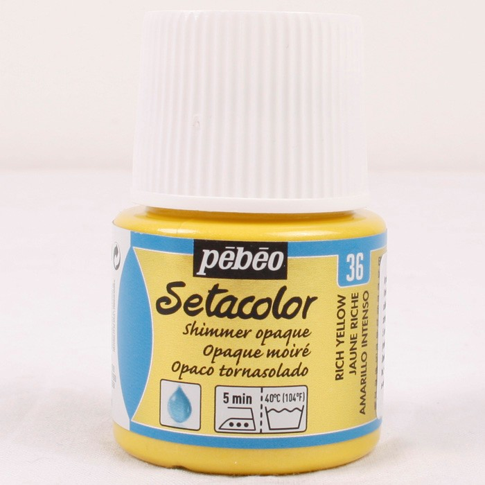 Pebeo Setacolor opaque 36 shimmer rich yellow