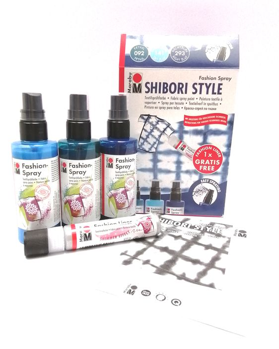 Marabu Fashion Spray - SHIBORI STYLE 3x100ml