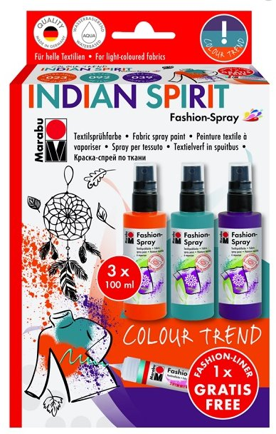 Marabu Fashion Spray - INDIAN SPIRIT  3x100ml