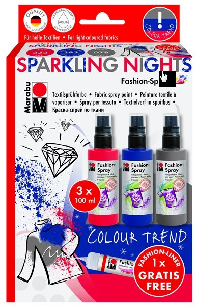 Marabu Fashion Spray - SPARKLING NIGHTS  3x100ml